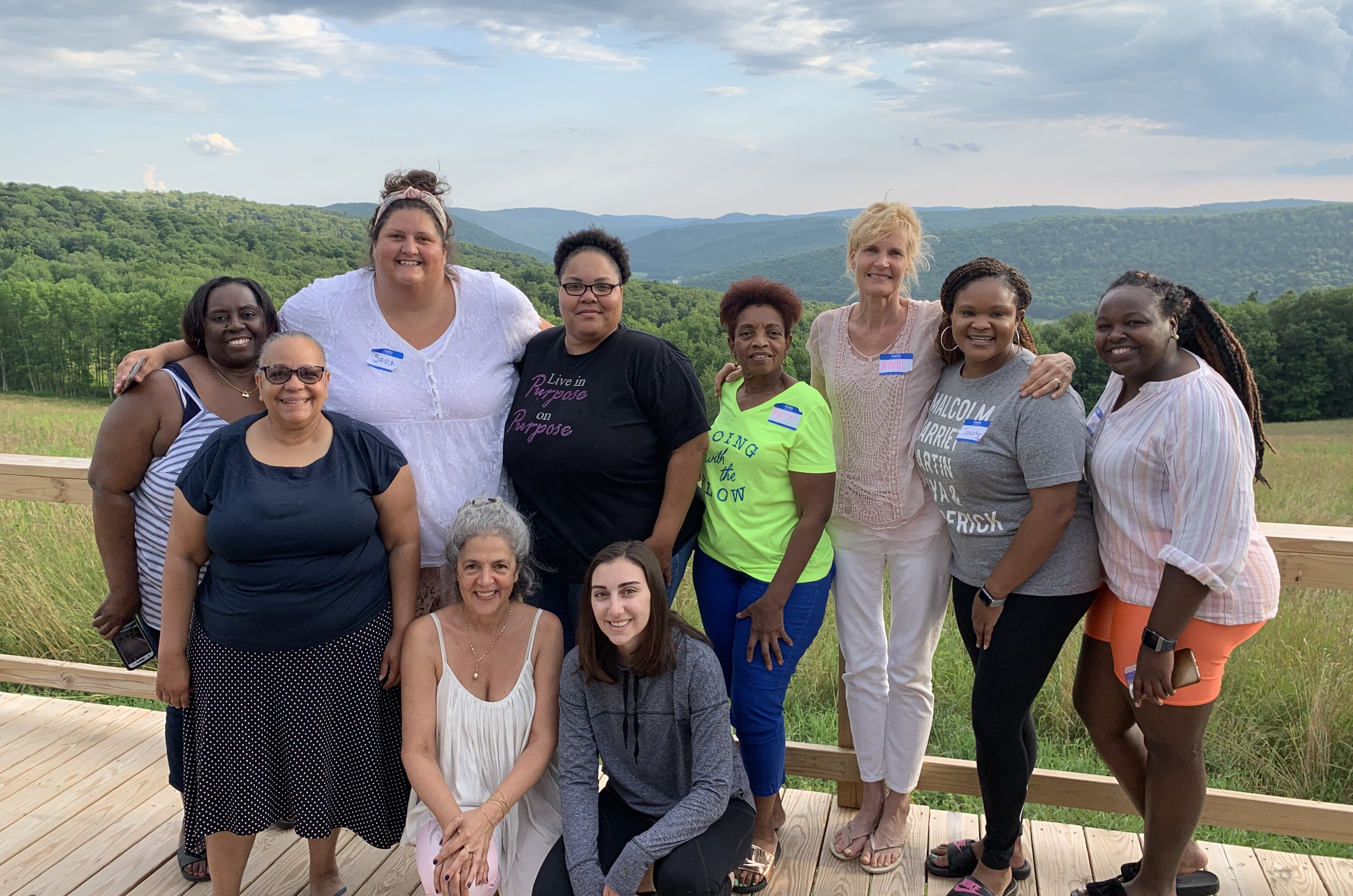 Ann, Claudia, and Imagine Newark women at Uplands